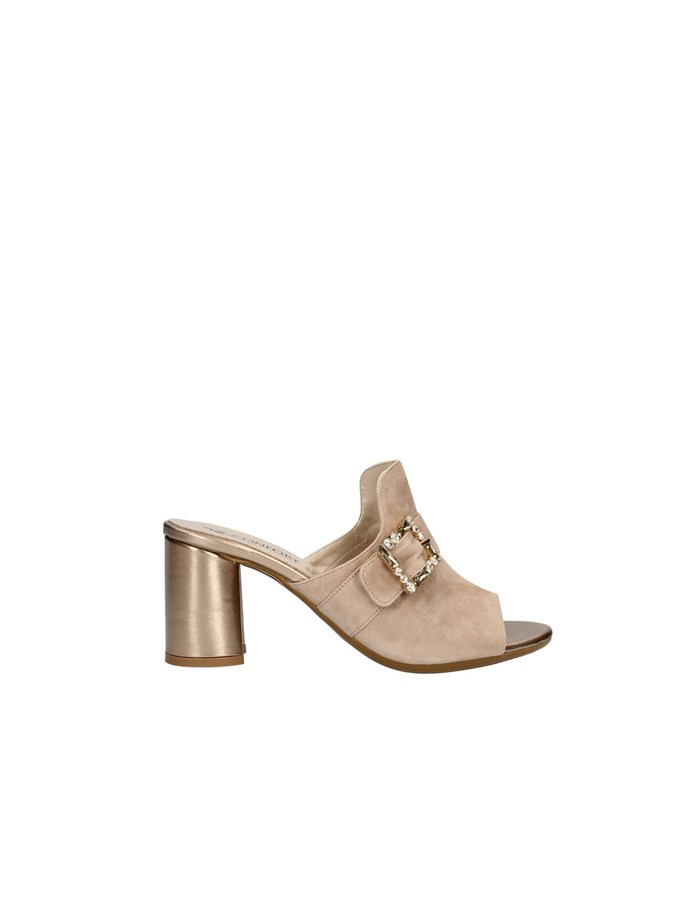 CONFORT Sandals with heel CHAMPAGNE
