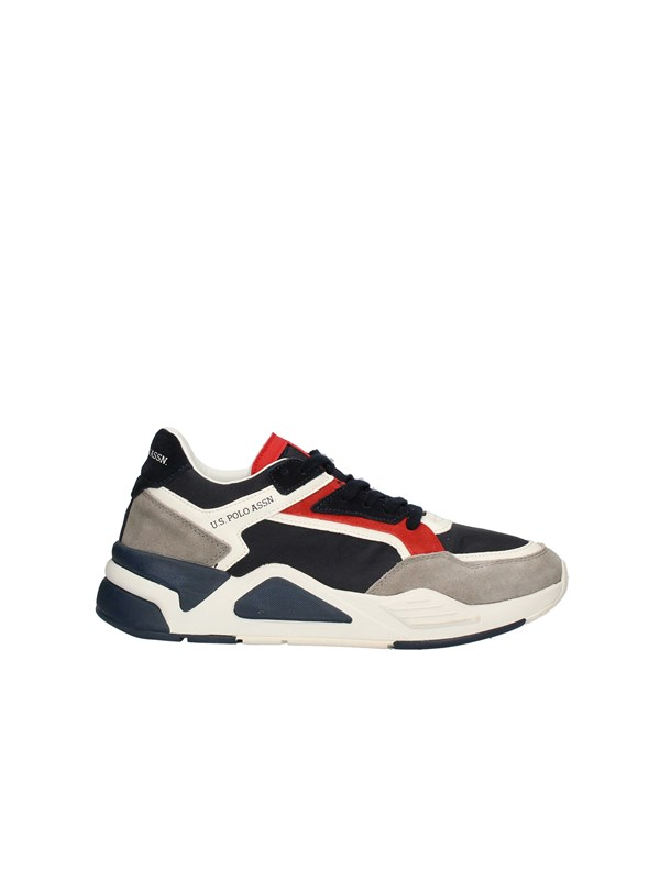 U.S POLO Sneakers High BLUE RED