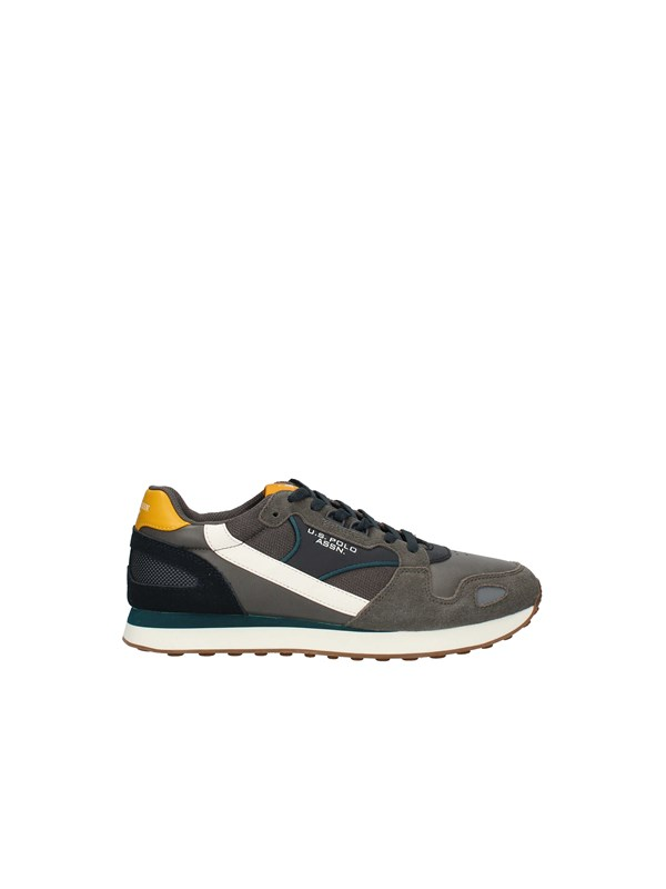 U.S POLO Sneakers Low GRAY YELLOW