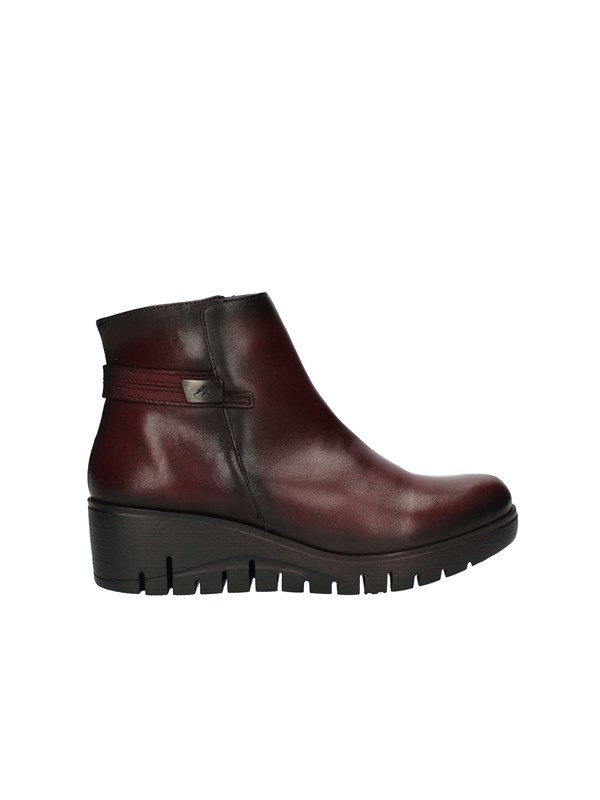 FLUCHOS Sneakers with wedge BORDEAUX