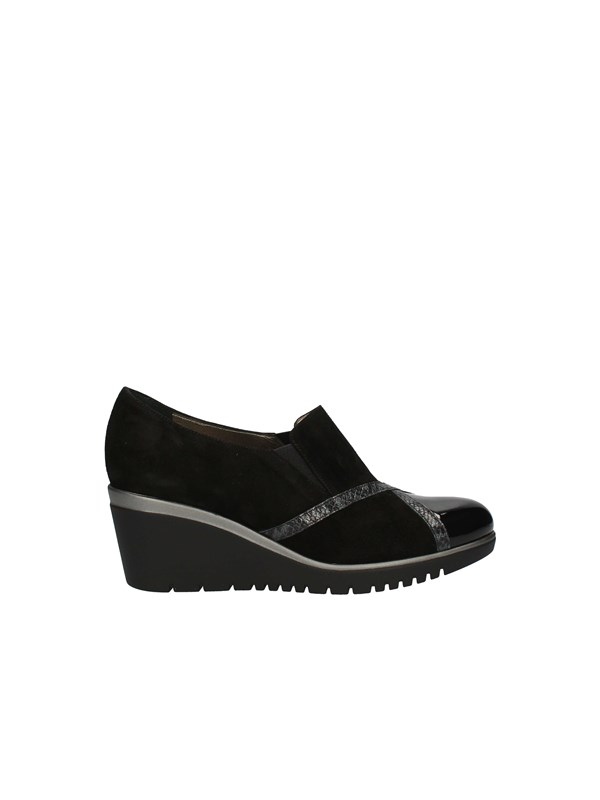 CONFORT Sneakers with wedge BLACK