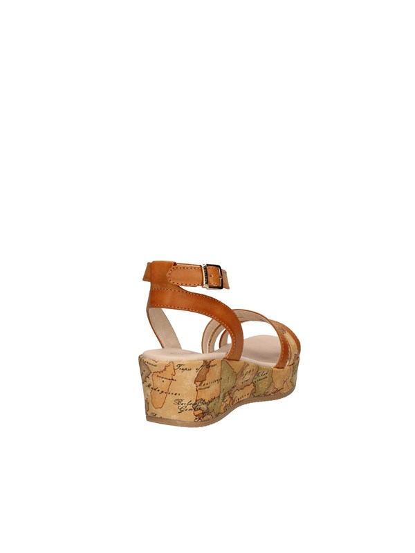 ALVIERO MARTINI Sandals with wedge LEATHER