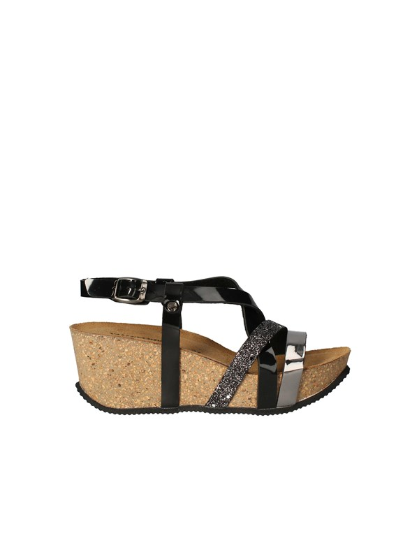 VALLEVERDE Sandals with wedge BLACK