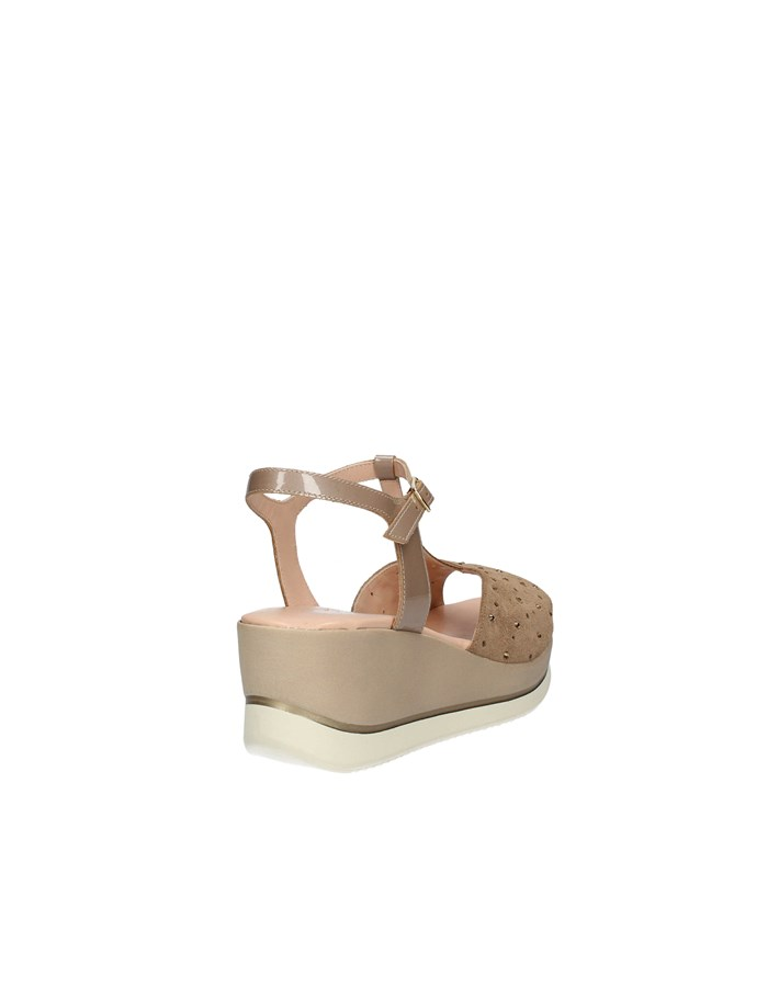 CONFORT Sandals with wedge TAUPE