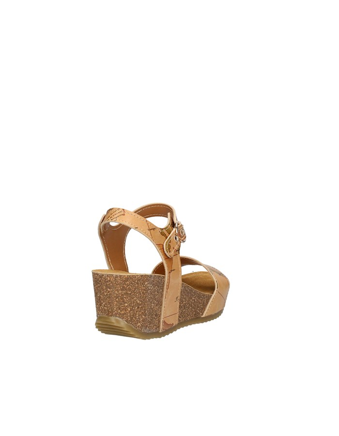 ALVIERO MARTINI Sandals with wedge NATURAL