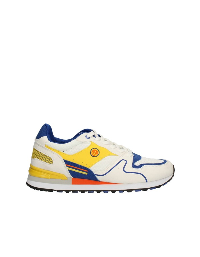 NAVY SAIL Sneakers High WHITE-YELLOW
