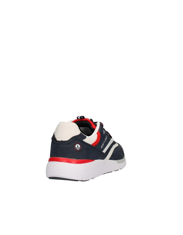 NAVY SAIL Sneakers High DEEP / WHI-RED
